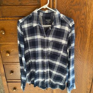 A&F blue flannel